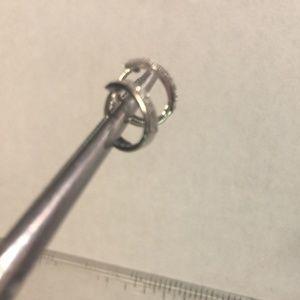 NEW 10KT WHITE GOLD DIAMOND HUGGIE EARRINGS
